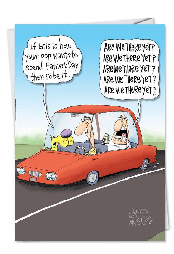 Are We There Yet: Hysterical Father's Day Greeting Card
