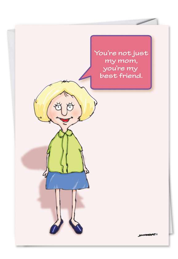 Hilarious Mother's Day Paper Greeting Card by David Skidmore from NobleWorksCards.com - Eat My Peas