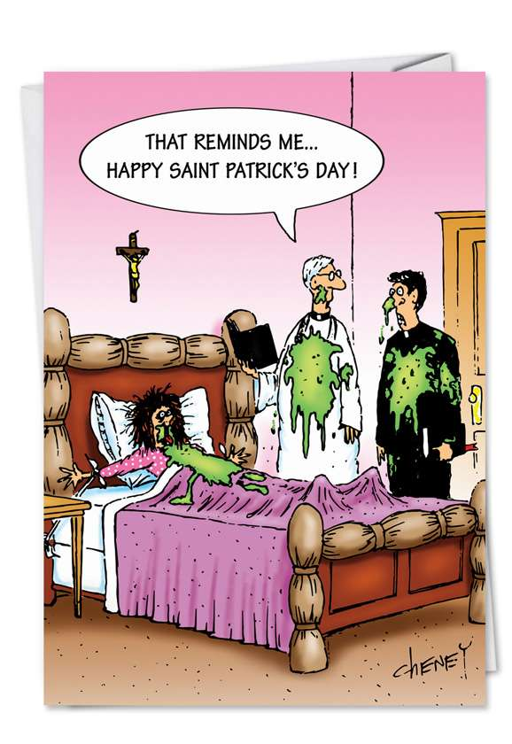 St. Patty Barf: Hysterical St. Patrick's Day Printed Greeting Card