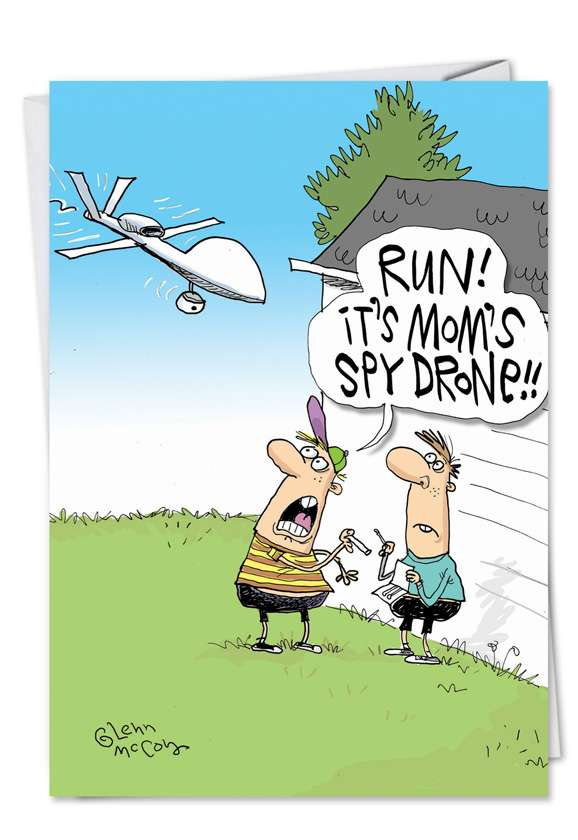 Spy Drone: Hilarious Mother's Day Paper Card