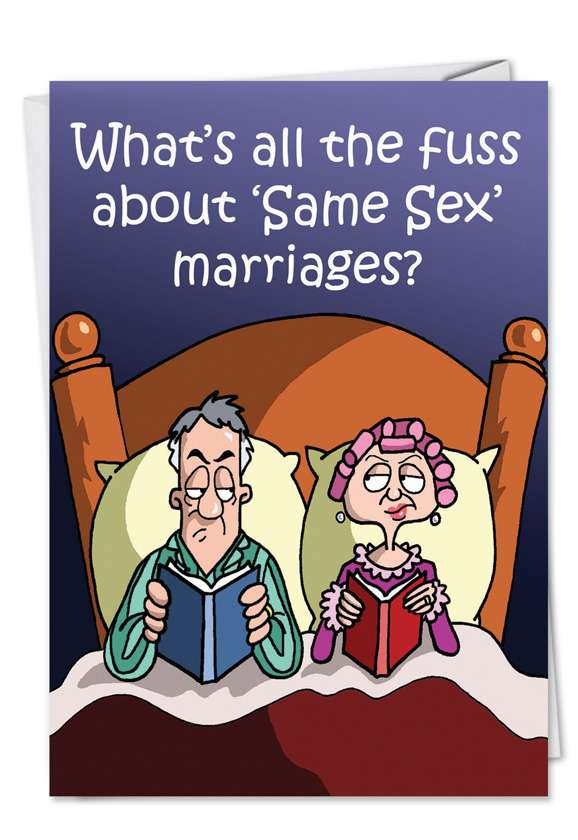 Same Sex Marriage: Funny Anniversary Paper Greeting Card