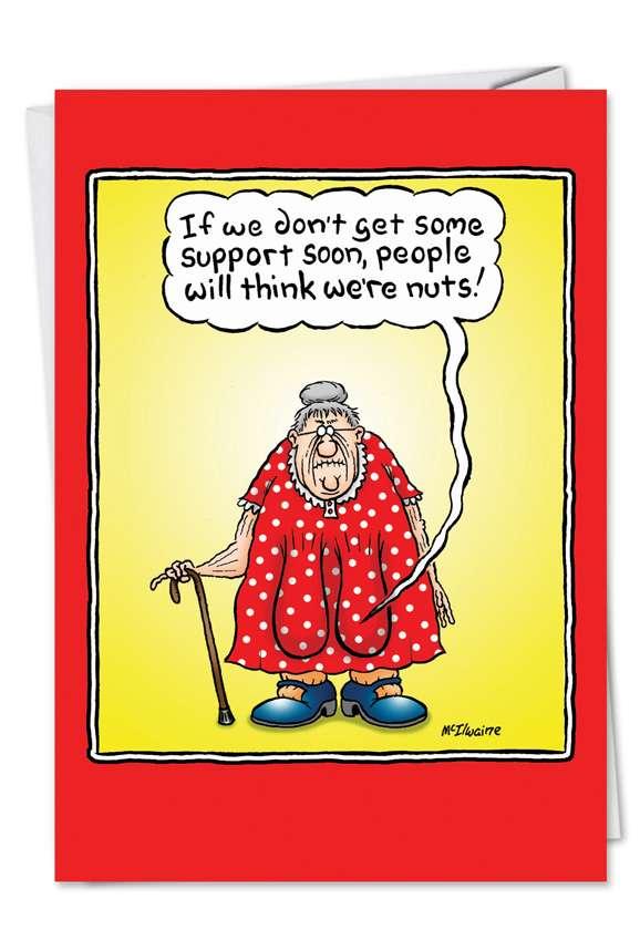 Saggy Boob: Hilarious Birthday Printed Greeting Card