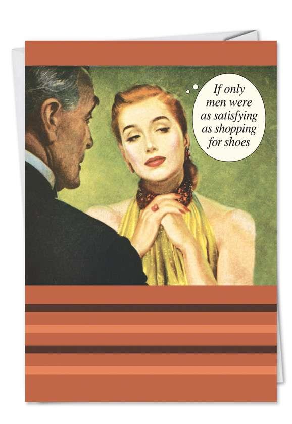 Shoe Shopping: Humorous Birthday Paper Card