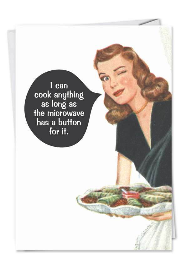 I Can Cook: Hilarious Birthday Greeting Card