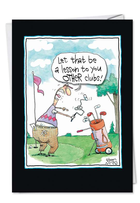 Other Clubs: Funny Birthday Paper Greeting Card