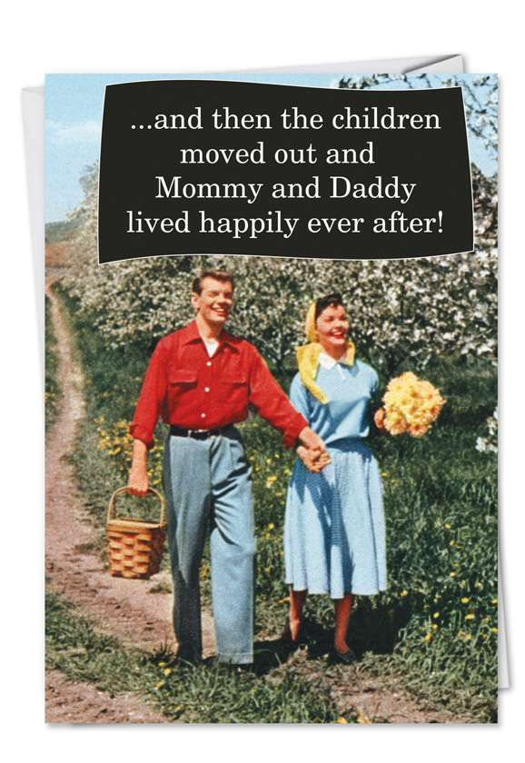 Children Moved Out: Hysterical Congratulations Printed Card