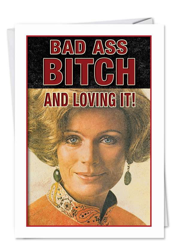 Badass Bitch Card