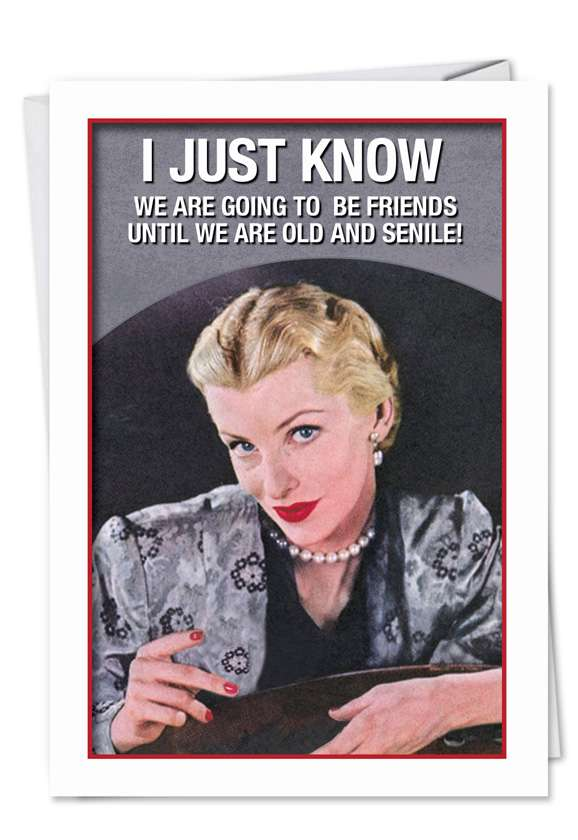 Old Friends New Friends: Hysterical Birthday Greeting Card