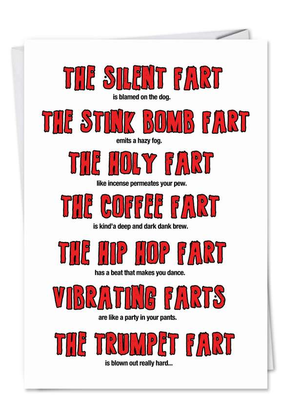 Funny Birthday Rude Fart Card Smell Farts Funny Fart Card Father/'s Day Farts