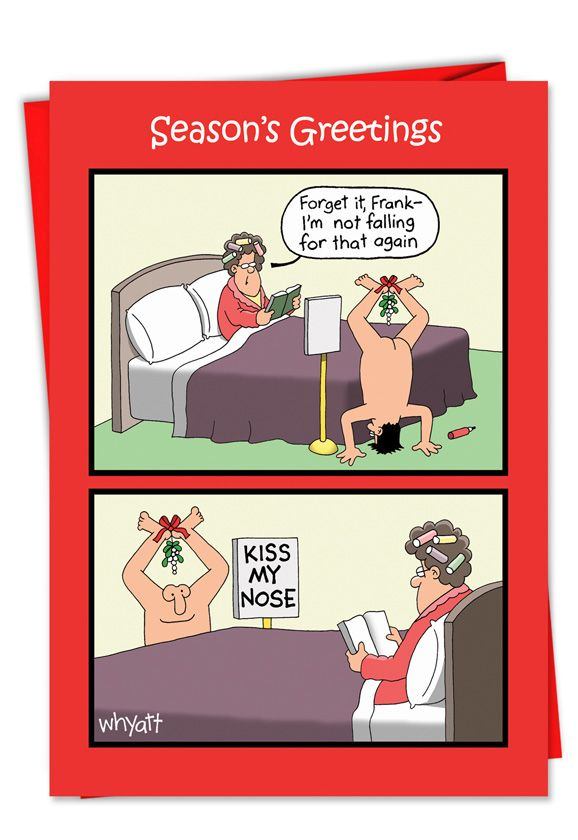 Kiss Nose Mistletoe: Hysterical Christmas Paper Card