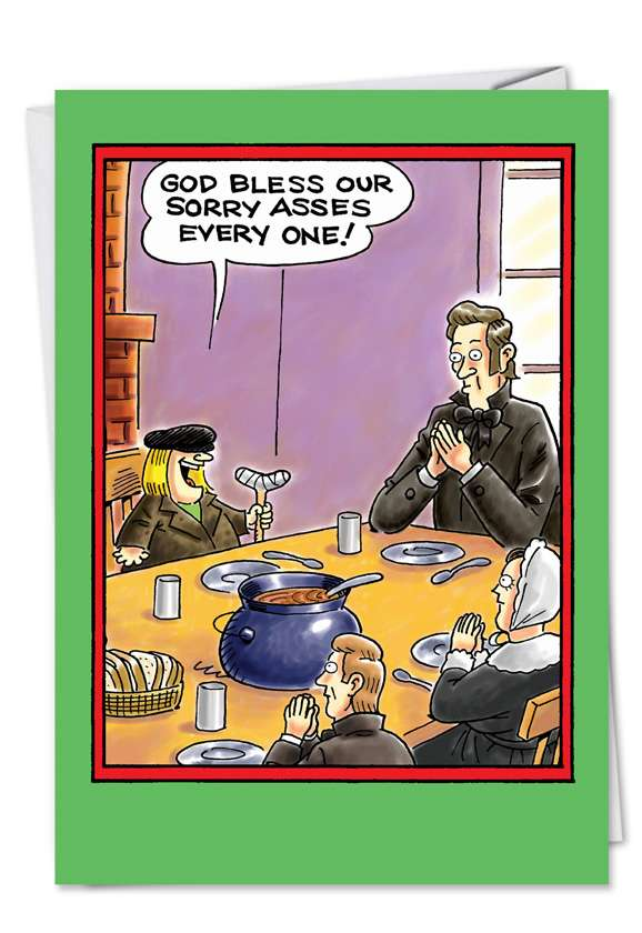 Bless Our Asses: Funny Christmas Greeting Card