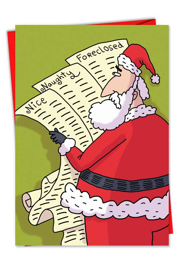 Foreclosed: Humorous Christmas Greeting Card