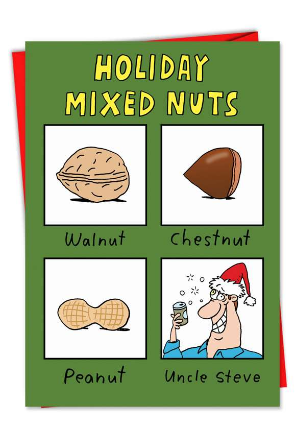 Mixed Nuts: Humorous Christmas Paper Card