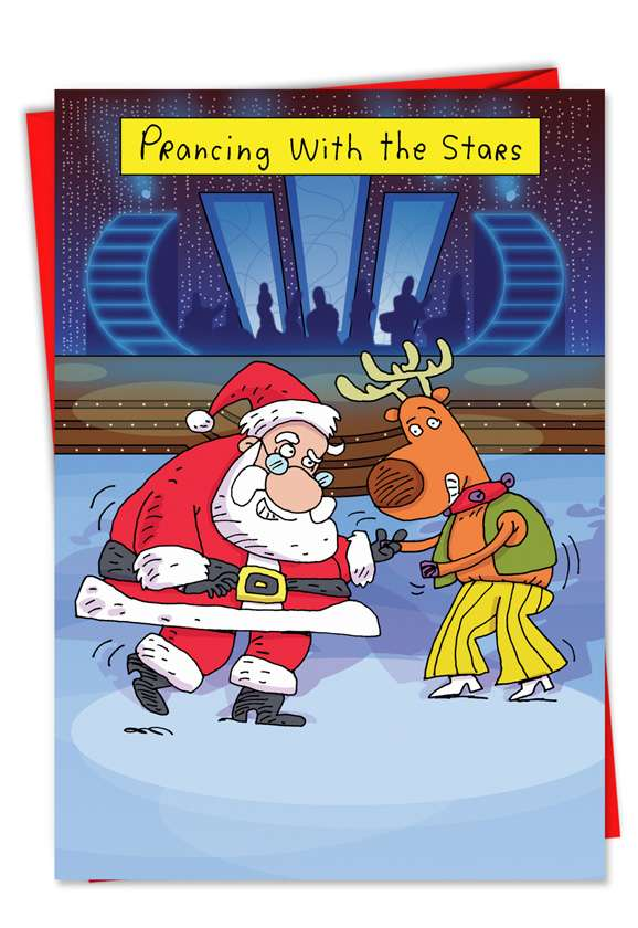Prancing With Stars: Hysterical Christmas Greeting Card