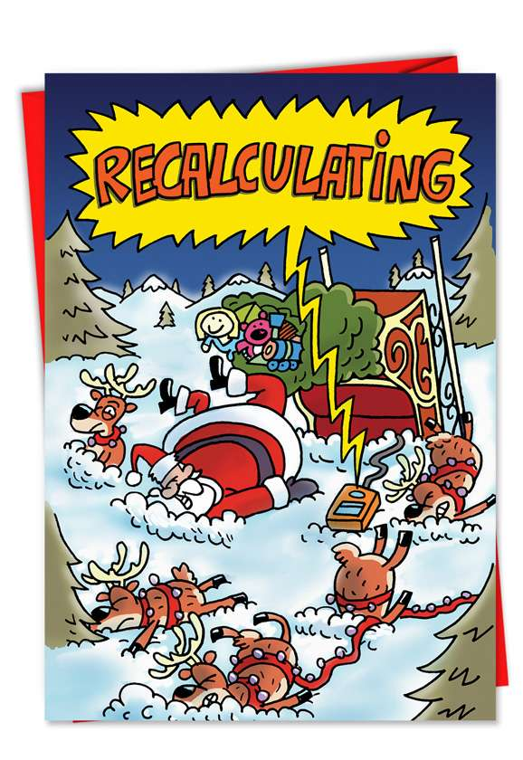 Recalculating: Hysterical Christmas Paper Card
