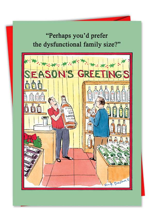 Dysfunctional Family: Hilarious Christmas Printed Card
