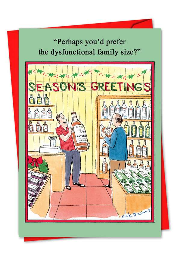 Dysfunctional Family: Funny Blank Greeting Card