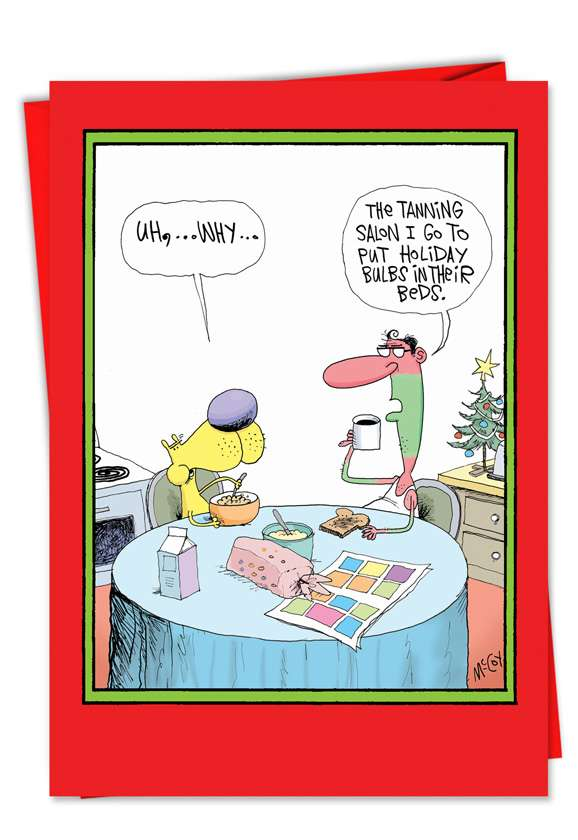 Holiday Tan: Hilarious Christmas Printed Greeting Card