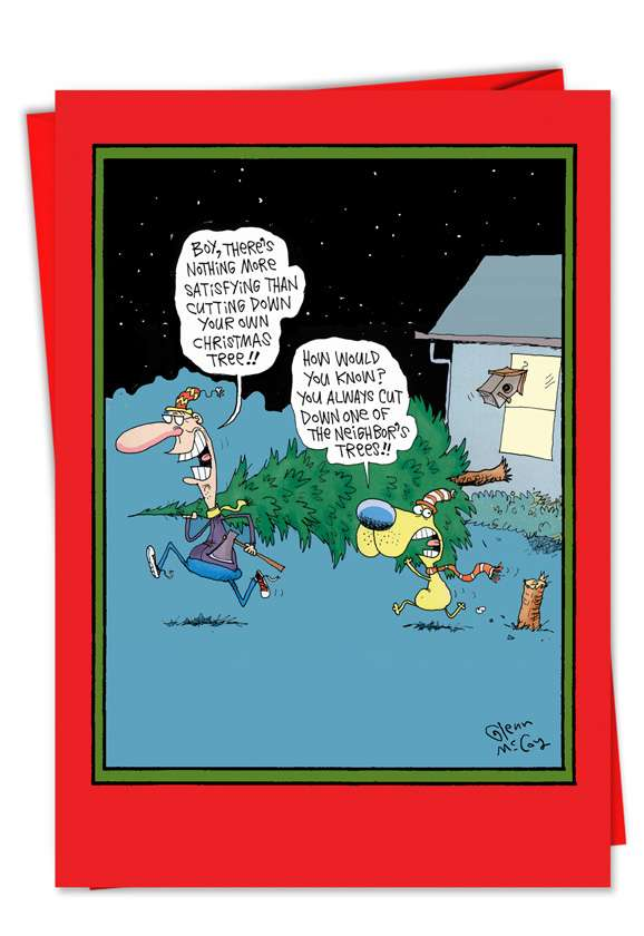 Cut Your Own Tree: Hysterical Christmas Greeting Card