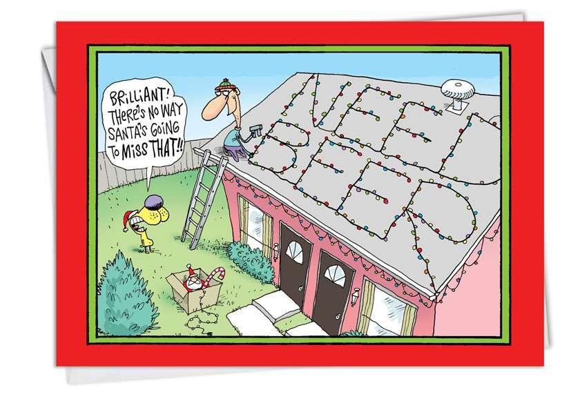 Need Beer: Hilarious Christmas Printed Card