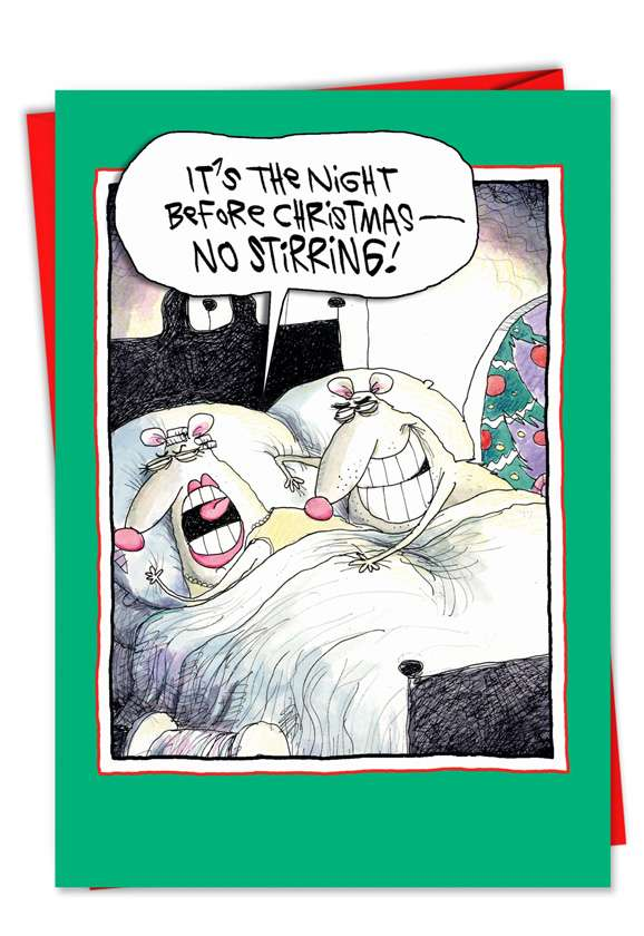No Stirring: Funny Christmas Printed Card