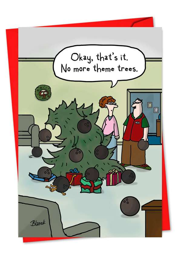 Theme Tree: Hysterical Christmas Paper Greeting Card