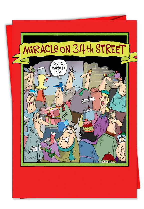Miracle on 34th Street: Hilarious Christmas Paper Card