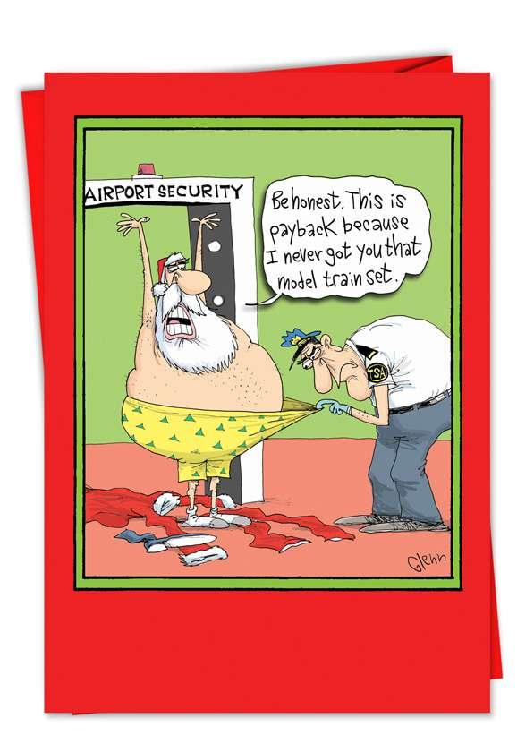 TSA Payback: Hysterical Christmas Greeting Card
