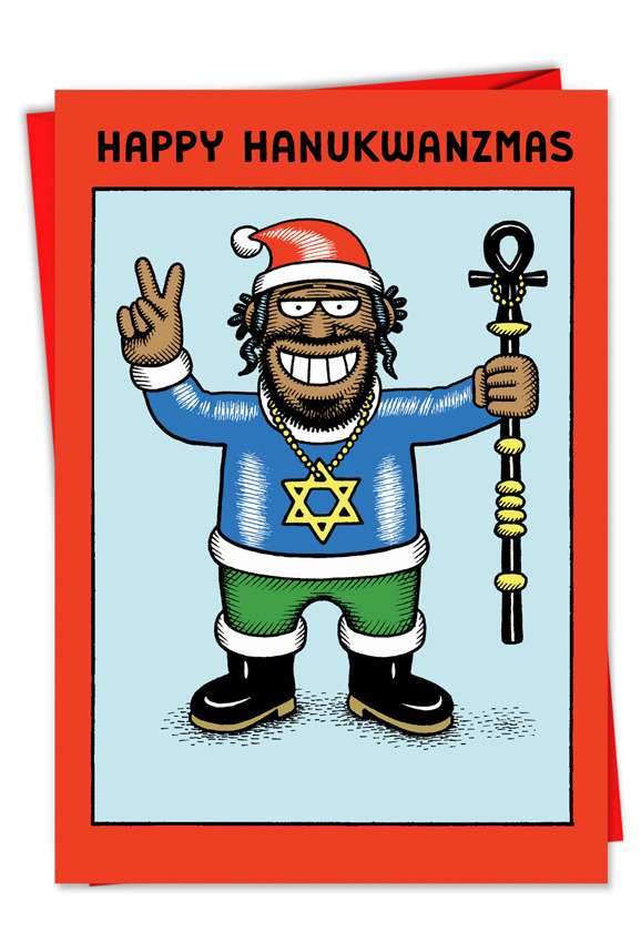 Hanukawanzamas: Hysterical Christmas Printed Greeting Card