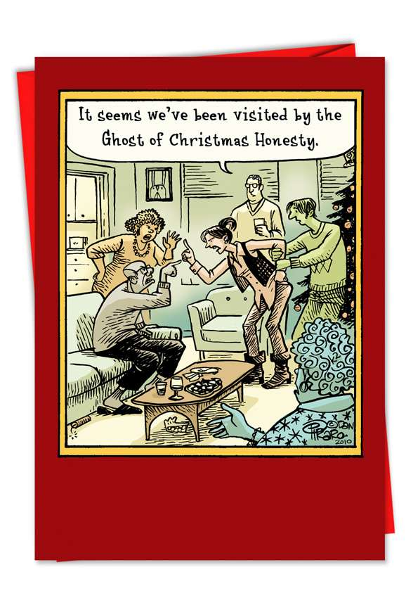 Christmas Honesty: Humorous Christmas Paper Card