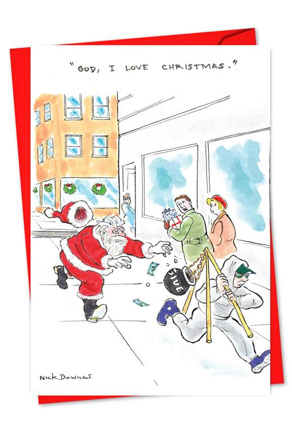 God I Love Christmas: Hysterical Christmas Greeting Card