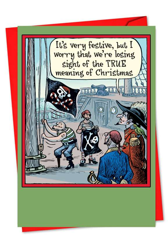Losing Sight: Funny Christmas Paper Card