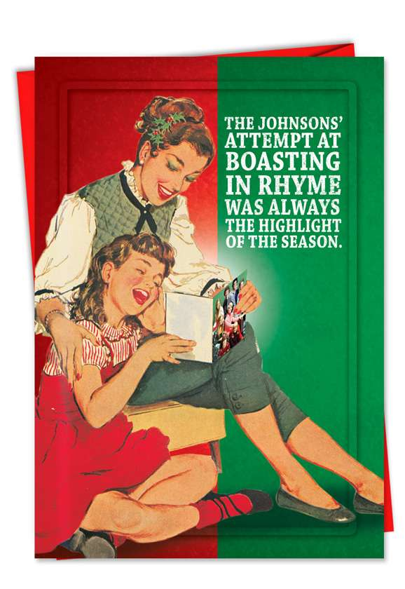 Christmas Letter: Hysterical Christmas Printed Card