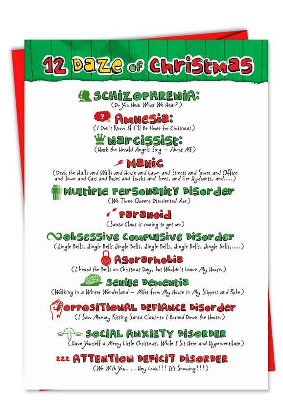 Christmas Music: Hilarious Christmas Printed Greeting Card