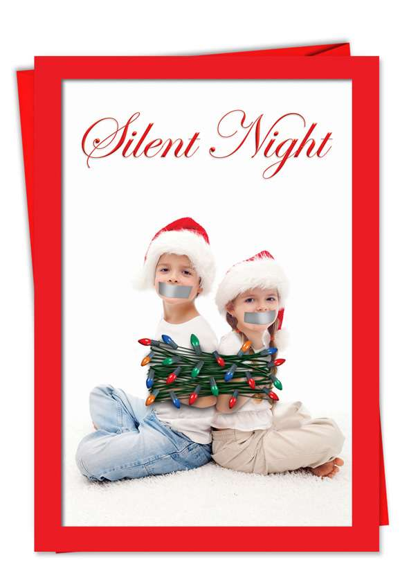 Silent Night: Funny Christmas Paper Card