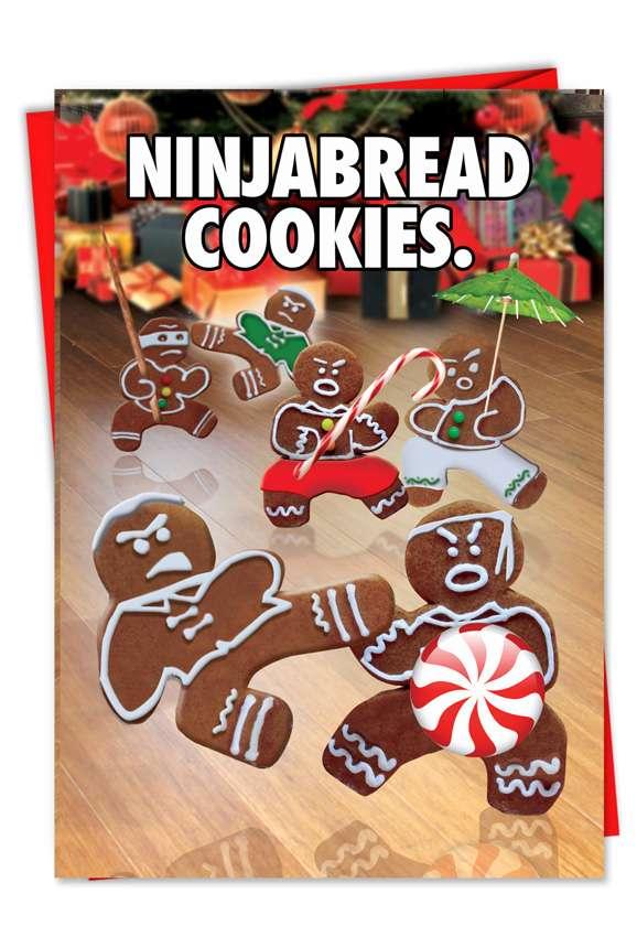 Ninjabread Cookies: Hysterical Christmas Printed Greeting Card