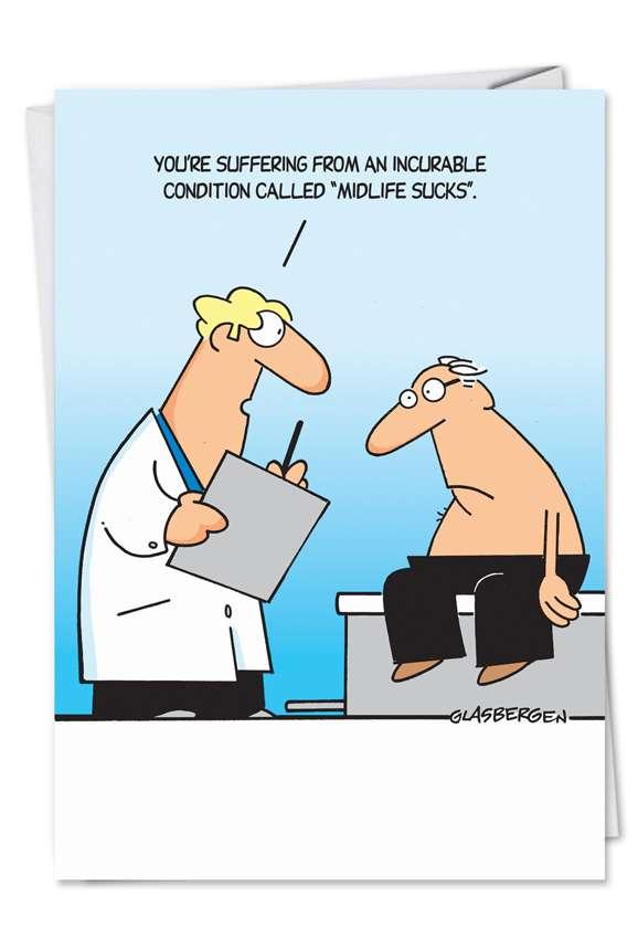 Midlife Sucks: Funny Birthday Paper Greeting Card