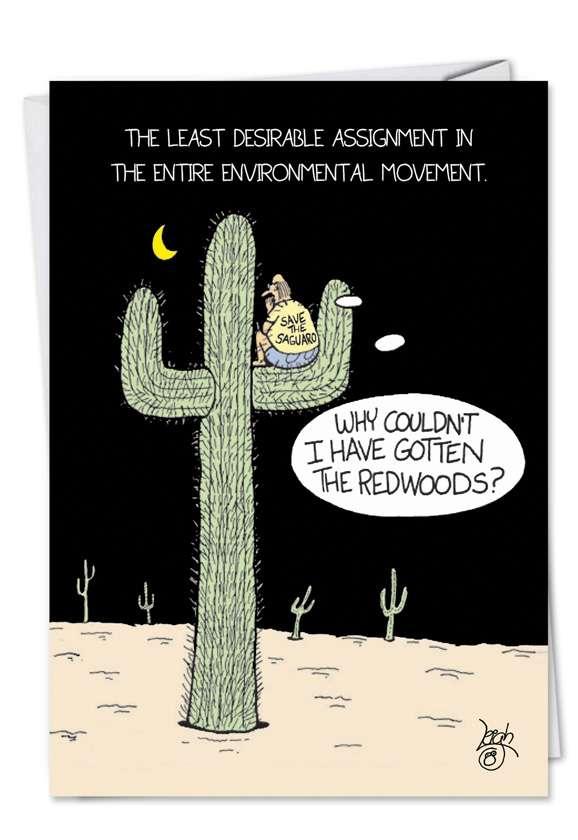 Redwood: Humorous Birthday Greeting Card