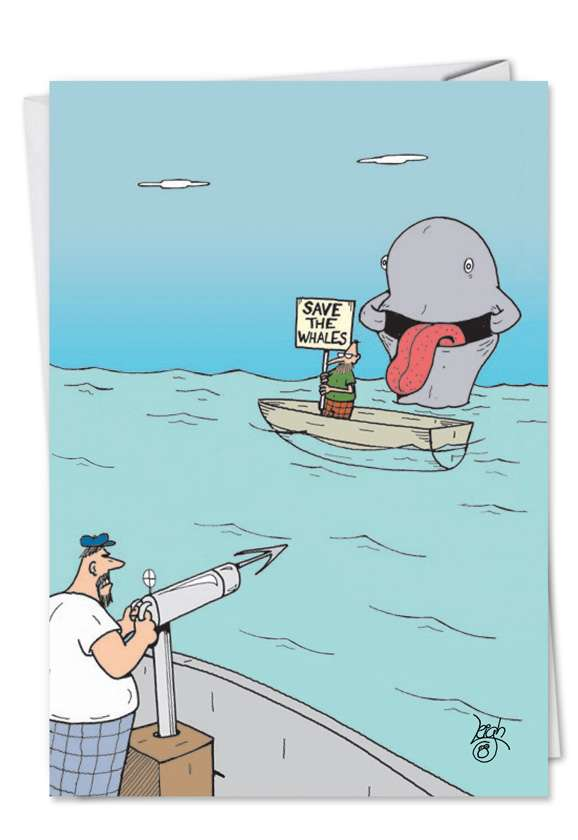 Save the Whale: Hilarious Get Well Printed Greeting Card