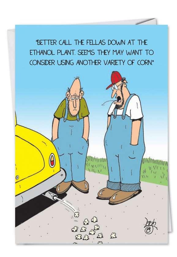 Ethanol: Humorous Birthday Paper Card