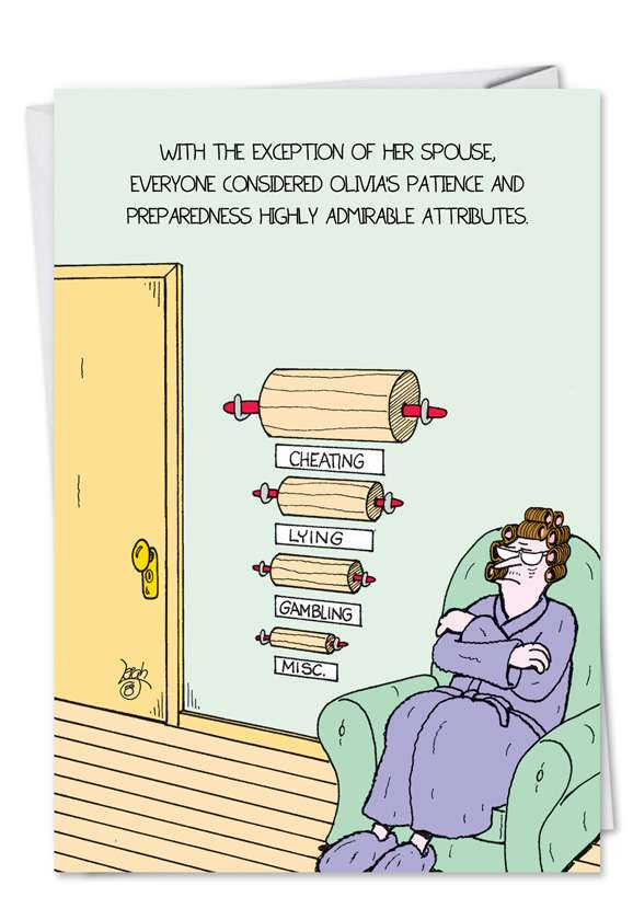 Rolling Pins: Hysterical Birthday Greeting Card