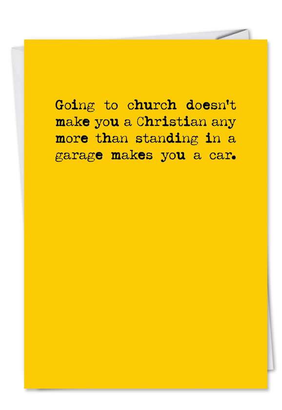 Going to Church: Hilarious Birthday Greeting Card