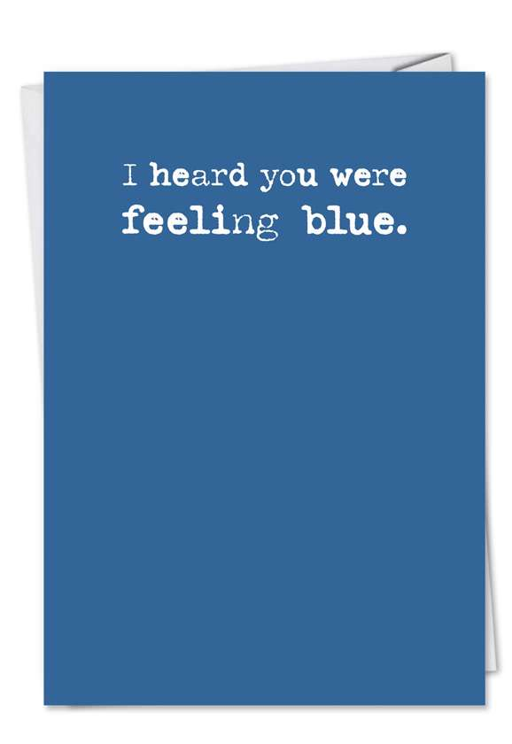Blue: Funny Birthday Paper Greeting Card