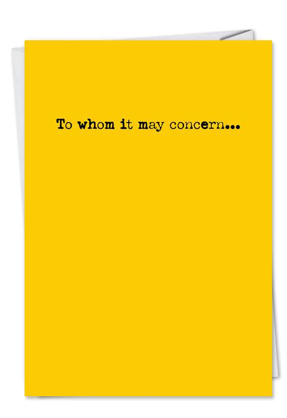 About the Blow Job: Hilarious All Occasions Printed Greeting Card