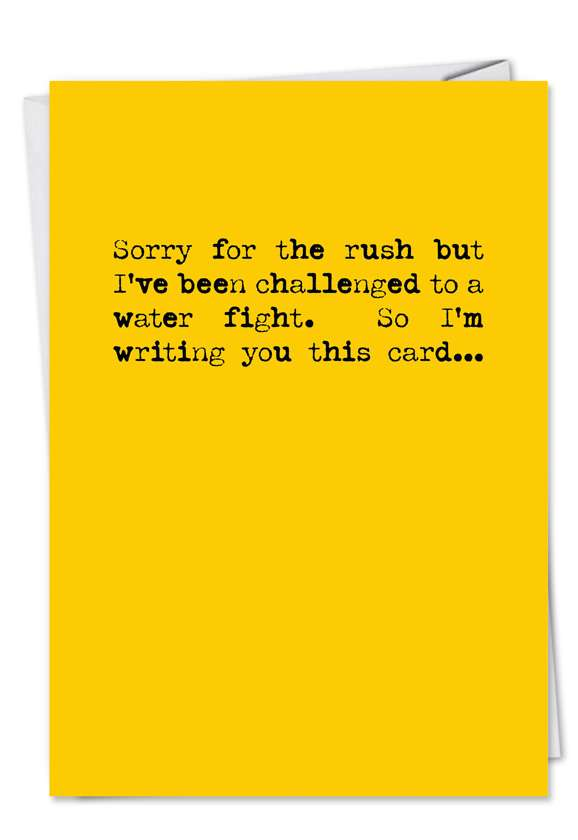 Water Fight: Funny Birthday Printed Card