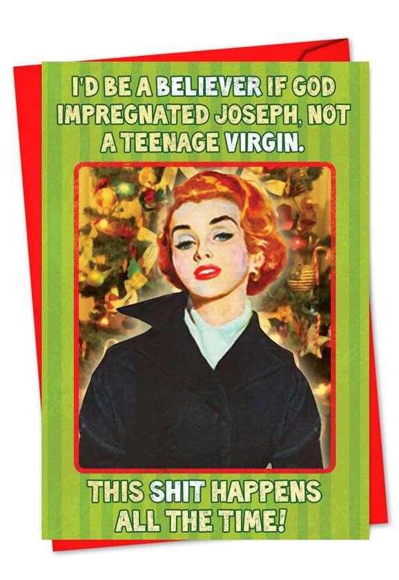 Impregnate Josef: Humorous Christmas Printed Card