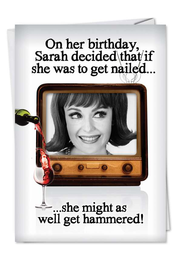 Get Hammered: Hilarious Birthday Printed Card
