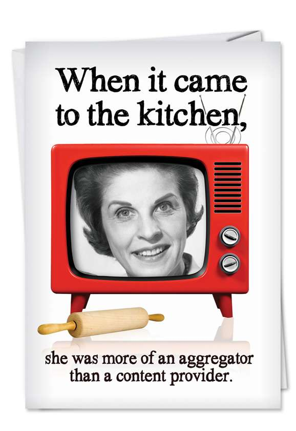 Kitchen Aggregator: Hysterical Birthday Printed Greeting Card