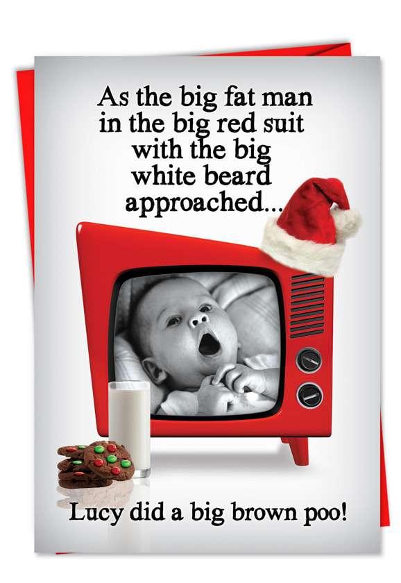 Big Brown Poo: Hysterical Christmas Greeting Card
