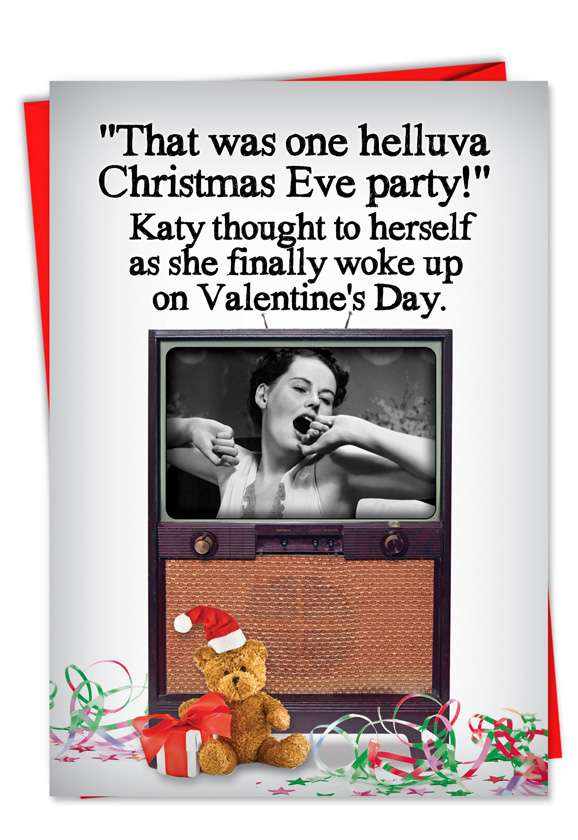 Christmas Eve Party: Hilarious Christmas Paper Greeting Card